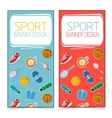 Active lifestyle banners vector image