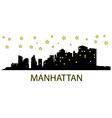 Manhattan with stars vector image