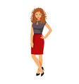 girl in office clothes vector image