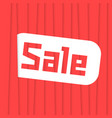 sale label with red stripes vector image
