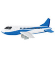 a commercial airplane on white background vector image