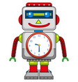 a robot toy on white background vector image vector image