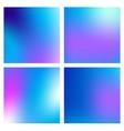 a set trendy liquid backgrounds blue cyan vector image vector image