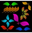 A variety of abstract leaves vector image vector image