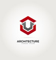 abstract architecture logo symbol vector image vector image