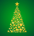 abstract christmas tree from stars vector image vector image