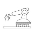 assembly line industrial machine icon image vector image vector image