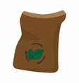 Bag of manure cartoon icon vector image vector image