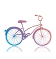 bicycle Retro hipster bike vector image