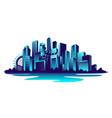 big neon city vector image