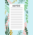 branch daily planner vector image vector image