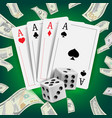 casino poker design poker cards playing vector image