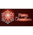 christmas neon background vector image vector image