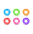 collection inflatable rubber rings realistic vector image