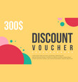 collection stock gift voucher design vector image vector image