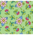 Colorful pattern with flower vector image vector image