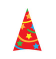 cone cap for holiday flat style vector image vector image