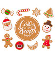 cookie for santa claus candy lollipop stripes vector image vector image