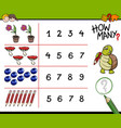 counting game for kids vector image vector image