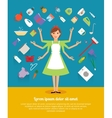 creative design concepts housewife activity vector image