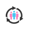 customer relationship management community icon vector image