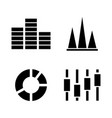 diagram graph simple related icons vector image vector image