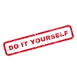 Do It Yourself Text Rubber Stamp vector image vector image