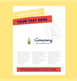 drink bottle title page design for company vector image vector image