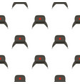earflap hat pattern flat vector image vector image