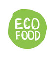 eco friendly label round emblem painted icon vector image