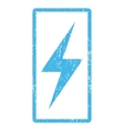 Electricity Icon Rubber Stamp vector image vector image