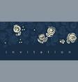 elegant one-color folk style floral design element vector image vector image