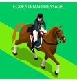 equestrian dressage 2016 summer games 3d vector image