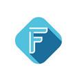 f letter logo vector image vector image