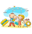 family in the airport vector image vector image