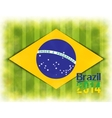 football card in Brazil flag colors vector image