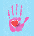 hands with hearts vector image vector image