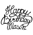 happy birthday mason name lettering vector image vector image
