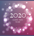 happy new year card with balls vector image vector image