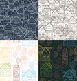 Home background set vector image vector image