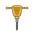 jackhammer equipment instrument for construction vector image