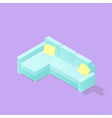 low poly isometric sofa vector image vector image