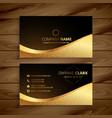luxury golden premium business card design vector image vector image