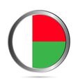 Madagascar flag button vector image vector image