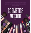 Makeup cosmetics tools Fashion background vector image vector image