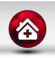 Medical hospital sign icon Home medicine symbol vector image vector image