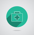 Medical white icon in line vector image