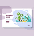 natural disasters website banner vector image vector image