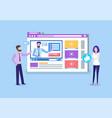 online courses teachers uploading tutoring videos vector image