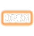 open concept on banner eps10 vector image vector image